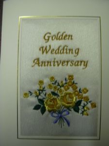 GOLDEN WEDDING ANNIVERSARY - Roses